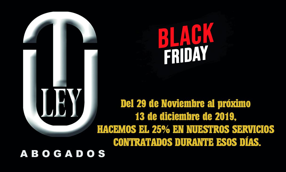 NUESTRO DESPACHO CON EL BLACK FRIDAY